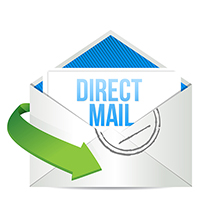 Direct Mail Post Cards, Letters, and Packages