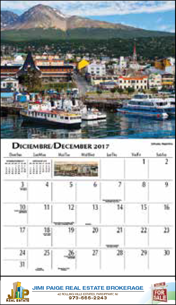 Beauty of Latin America Themed Wall Calendar