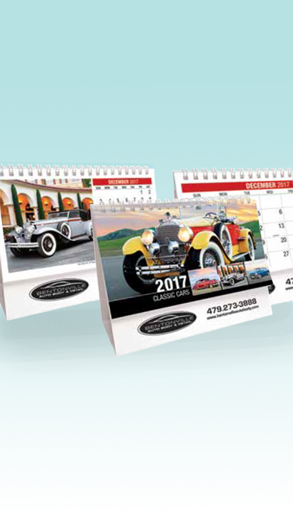 Classic Cars Themed Desk Calendar