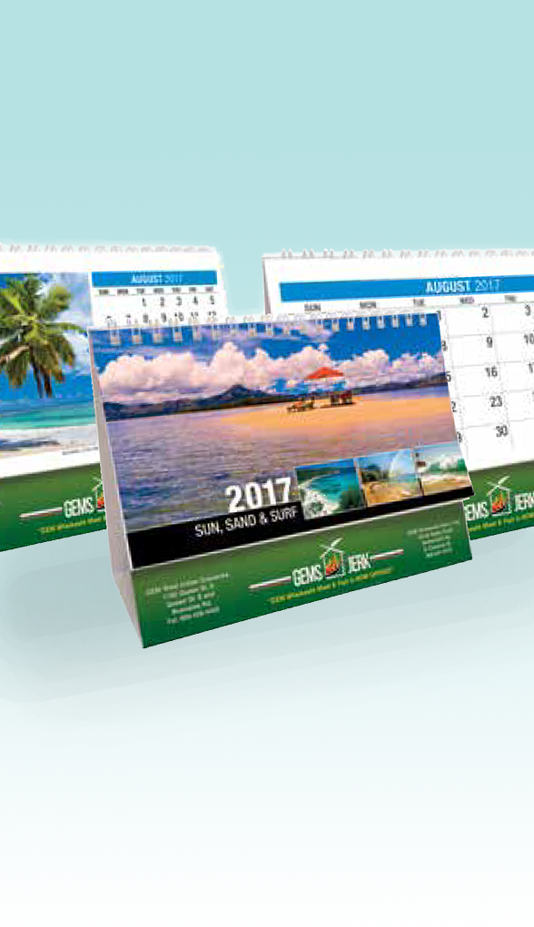 Sun, Sand and Surf Themed Desk Calendar