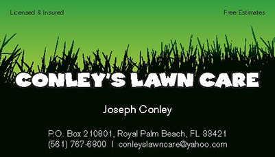 Business cards spot uv printing services west palm beach conleys lawn care business card colourmoves